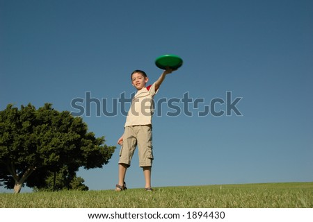 Boy with frisbee