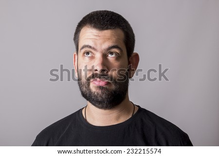Boy with funny expression - stock photo