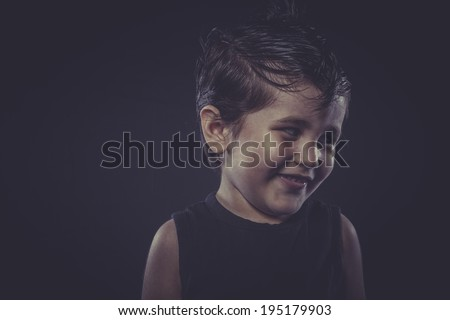 boy with funny hair crest