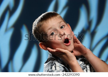boy with soap bubble - stock photo
