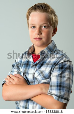 boy with sylish hair - stock photo