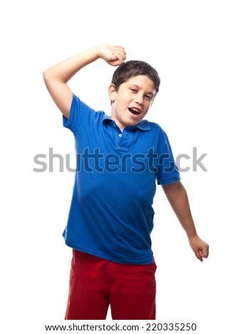 boy yawning - stock photo