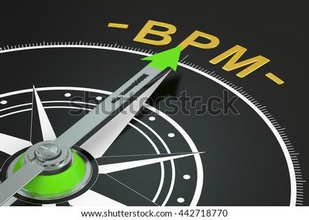 BPM compass concept, 3D rendering - stock photo
