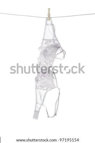Bra isolated on white background