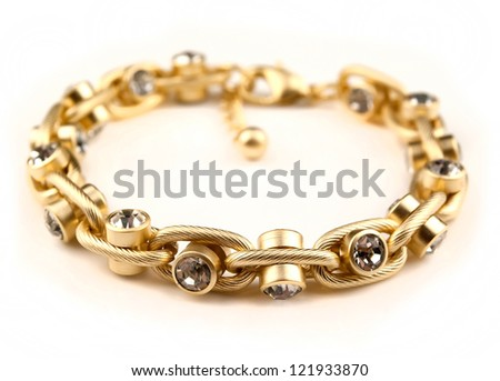 bracelet jewellery isolated on white background - stock photo