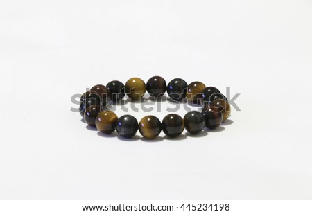 bracelet stone on the white background  - stock photo