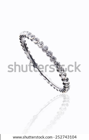 bracelet  with diamonds   - stock photo