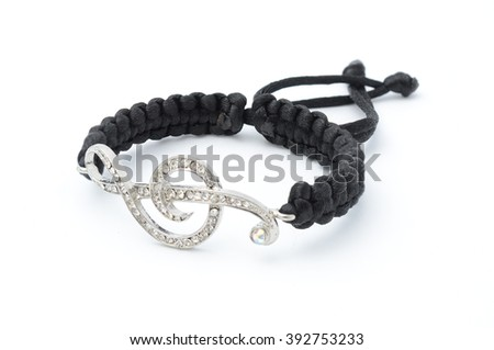bracelet with treble clef isolated