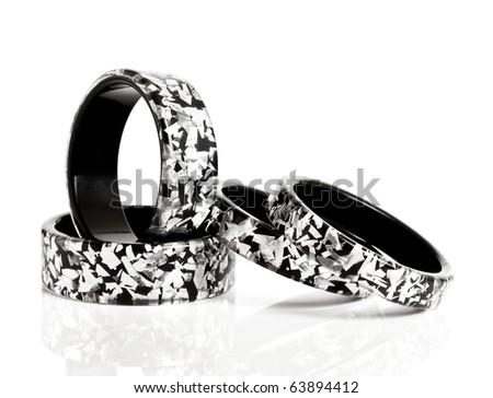 bracelets isolated on white background - stock photo