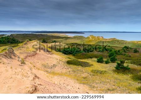 Brackley Beach PEI Sand Dunes - stock photo