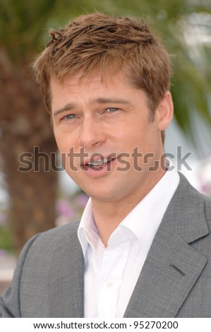 "Brad Pitt at photocall for his new movie ""A Mighty Heart"" at the 60th Annual International Film Festival de Cannes. May 21, 2007  Cannes, France.  2007 Paul Smith / Featureflash - stock photo"
