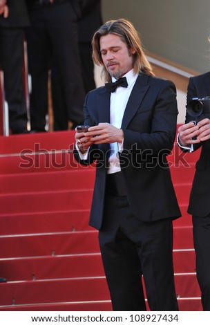 "Brad Pitt at the gala screening of his new movie ""Killing Them Softly"" in competition at the 65th Festival de Cannes. May 22, 2012  Cannes, France Picture: Paul Smith / Featureflash - stock photo"