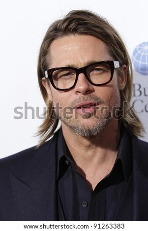 """Brad Pitt at the """"In The Land Of Blood And Honey"""" Los Angeles Premiere, ArcLight Cinemas, Hollywood, CA 12-08-11 - stock photo"""