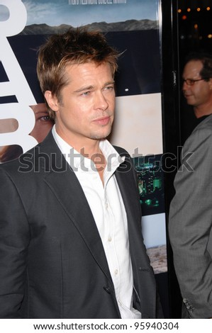 "BRAD PITT at the Los Angeles premiere of his new movie ""Babel"". November 5, 2006  Los Angeles, CA Picture: Paul Smith / Featureflash"