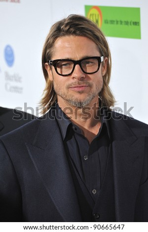 "Brad Pitt at the Los Angeles premiere of ""In The Land of Blood and Honey"" at the ArcLight Theatre, Hollywood. December 8, 2011  Los Angeles, CA Picture: Paul Smith / Featureflash"