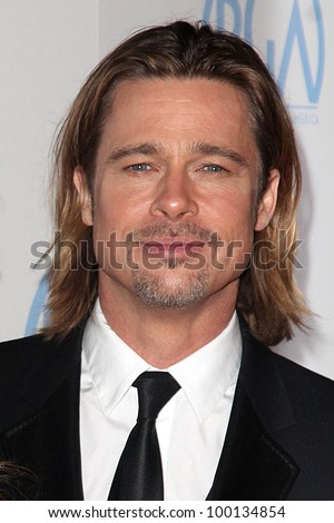 Brad Pitt at the 23rd Annual Producers Guild Awards, Beverly Hilton, Beverly Hills, CA 01-21-12 - stock photo