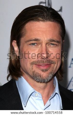 "Brad Pitt at the West Coast Premiere Reading of ""8"" Shows, Wilshire Ebell Theater, Los Angeles, CA 03-03-12"