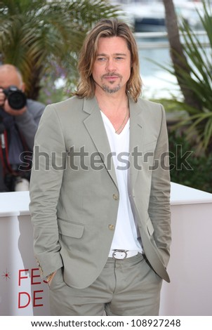 Brad Pitt during the 'Killing them Softly' photocall during the 65th Cannes Film Festival, Cannes, France. 22/05/2012 Picture by: Henry Harris / Featureflash
