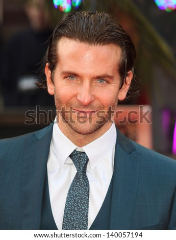 Bradley Cooper arriving for 'The Hangover Part III' European Premiere, London. 22/05/2013 - stock photo