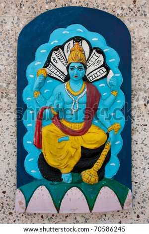 brahma the hindu god - stock photo