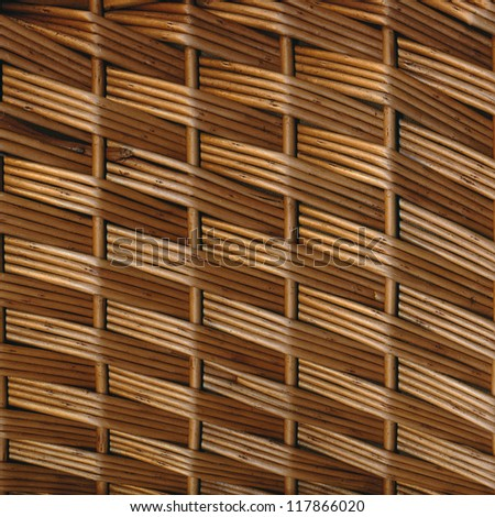braided wicker texture rustic materials - stock photo