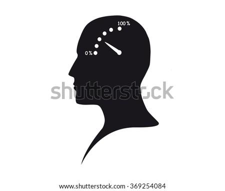 Brain activity - stock photo