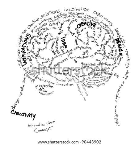 Brain design ,idea and creative concept - stock photo