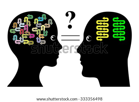 Brain Differences. Male brains and female brains function in different ways - stock photo