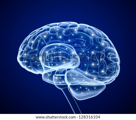 Brain impulses. Thinking prosess. - stock photo