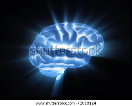 brain light streaks - stock photo