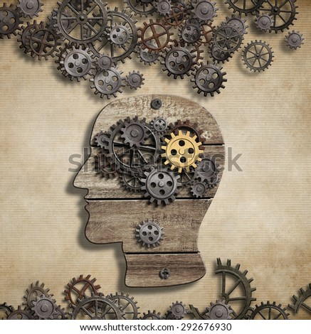 Brain mental activity and idea concept - stock photo