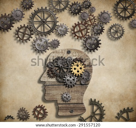 Brain mental activity, psychology, invention and idea concept - stock photo