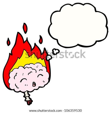 brain on fire - stock photo