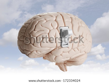 Brain power  - stock photo