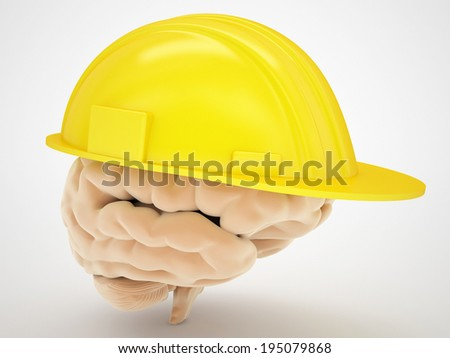 brain protection medical concept - stock photo