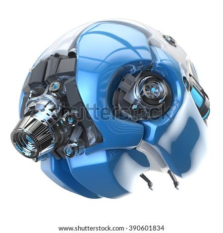 brain robot concept - stock photo