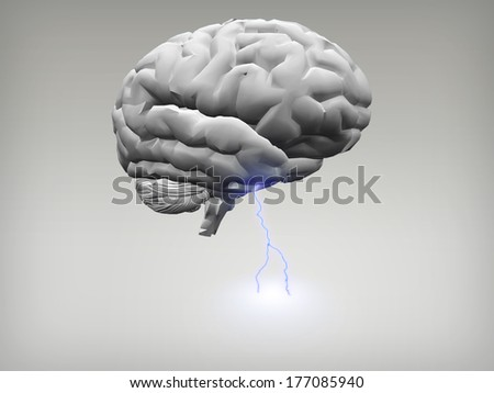 Brain Storm - stock photo