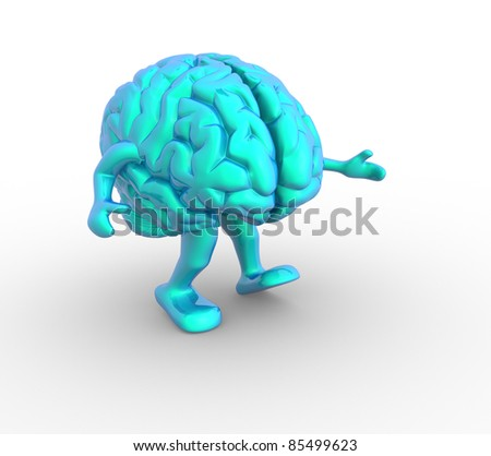 Brain. This is a 3d render illustration - stock photo
