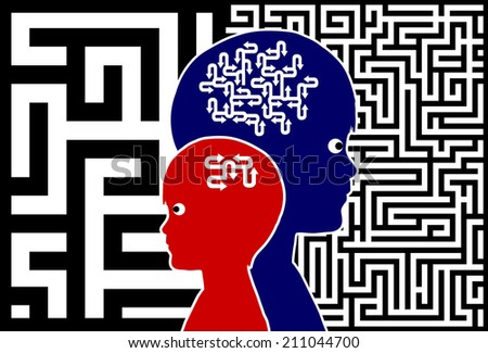 Brain Training for Children. Early childhood education emphasis on the development of the intellect - stock photo