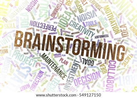 Brainstorming, business conceptual word cloud for for design wallpaper, texture or background, grunge & rough