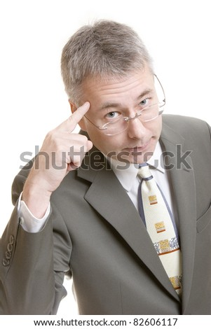 Brainstorming businessman - stock photo