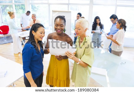 Brainstorming in Community Center - stock photo