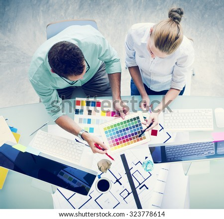 Brainstorming Planning Partnership Strategy Concept - stock photo