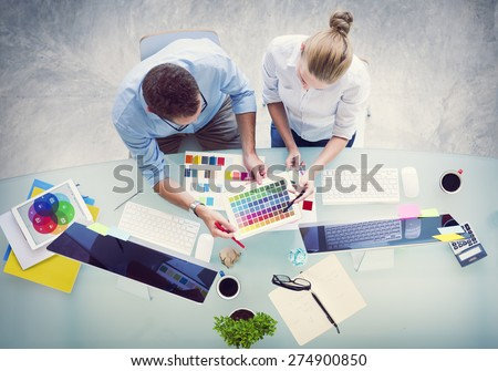 Brainstorming Planning Partnership Strategy Workstation Business Administration Concept - stock photo