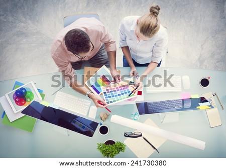 Brainstorming Planning Partnership Strategy Workstation Business Adminstratation Concept - stock photo
