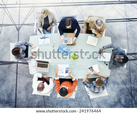 Brainstorming Planning Partnership Strategy Workstation Business Adminstratation Concept - stock photo