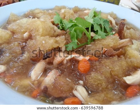 Braised Fish Maw in Red Gravy, Chinese food