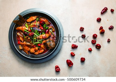 Braised spicy fish