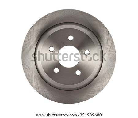 Brake disc isolated on white car spare parts