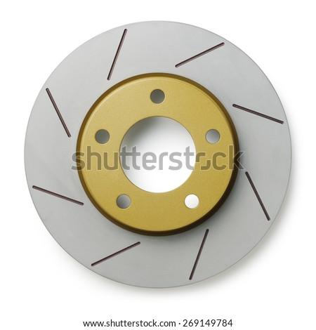 brake disc on white background - stock photo